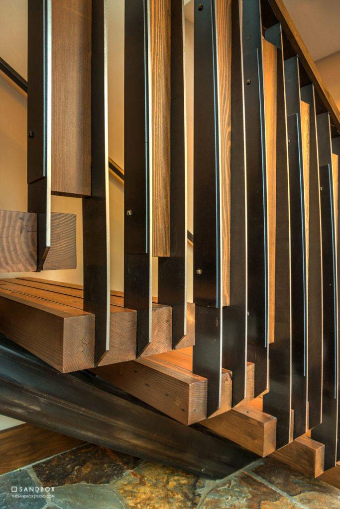 SANDBOX-LAHONTAN-283-TRUCKEE-TRADITIONAL-CUSTOM-STAIR-DETAILING-HEAVY-TIMBER-TREADS-STEEL-INLAY-CUSTOM-STEEL-RAILING image