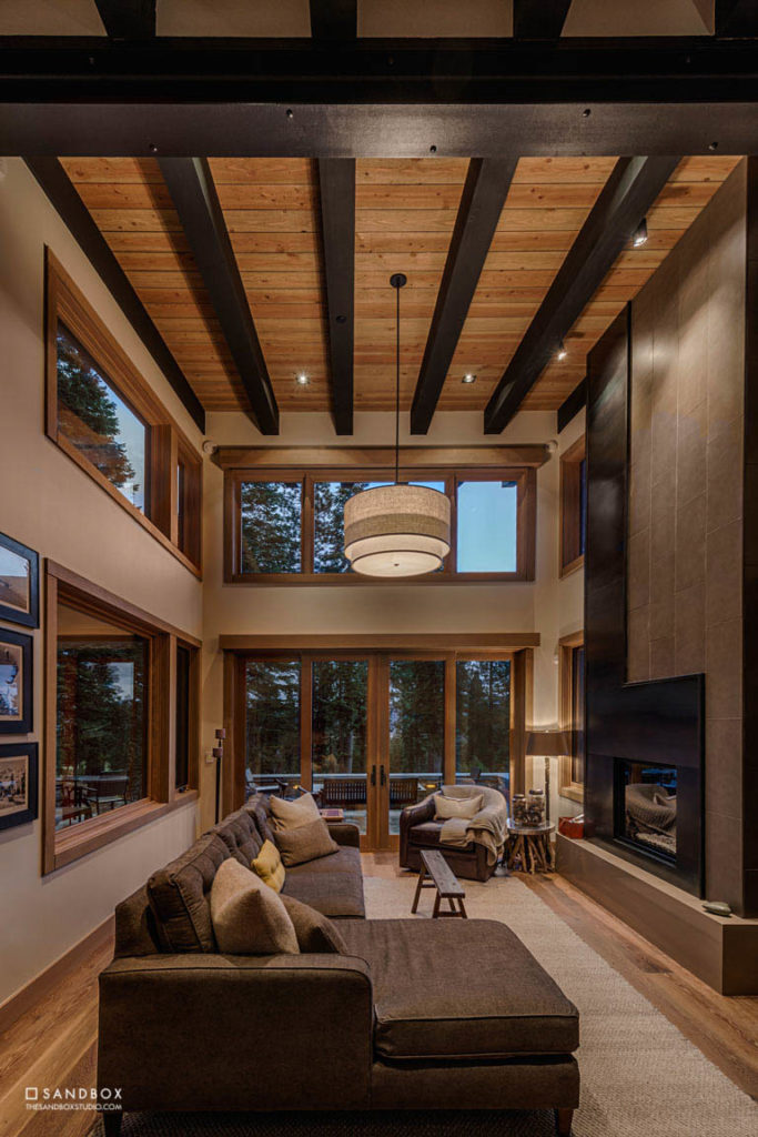 SANDBOX-MARTIS-CAMP-50-MOUNTAIN-MODERN-GUEST-HOUSE-GREAT-ROOM-CUSTOM-FIREPLACE-EXPOSED-STRUCTURE-FULL-HEIGHT-GLASS image