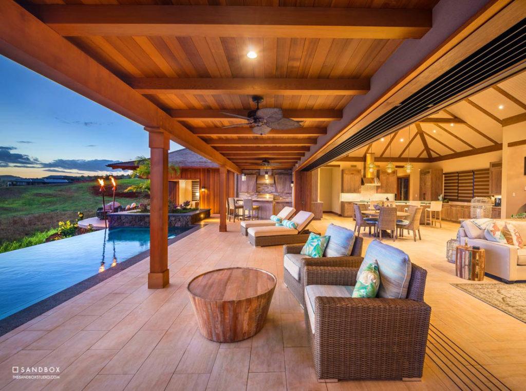 SANDBOX-KUKUIULA-70-HAWAII-TROPICAL-POOL-COVERED-LANAI-KITCHEN-INDOOR-OUTDOOR-LIVING image