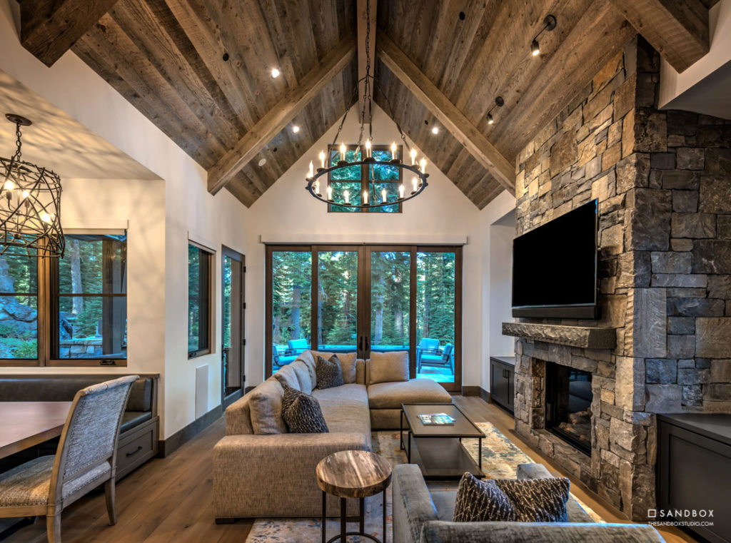SANDBOX-MARTIS-CAMP-2-MOUNTAIN-TRANSITIONAL-HOME-GUEST-HOUSE-LIVING-ROOM-WITH-CUSTOM-BUILT-IN-BREAKFAST-NOOK-AND-INDOOR-OUTDOOR-LIVING image